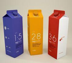 Ce packaging s'amuse à prendre à contre pied l'idée selon laquelle « le lait c'est laid ». En effet, ses différentes couleurs mettent en valeur la largeur de gamme de TEJ MILK, pour que chacun puisse y trouver son plaisir. De plus, l'emballage certifié Tetra Pack, reconnaissable à sa célèbre forme, illustre bien le concept de protection de l'environnement. Enfin, ce packaging est un exemple de praticité d'utilisation de par ses bouchons refermables, plus pratiques que les encoches…