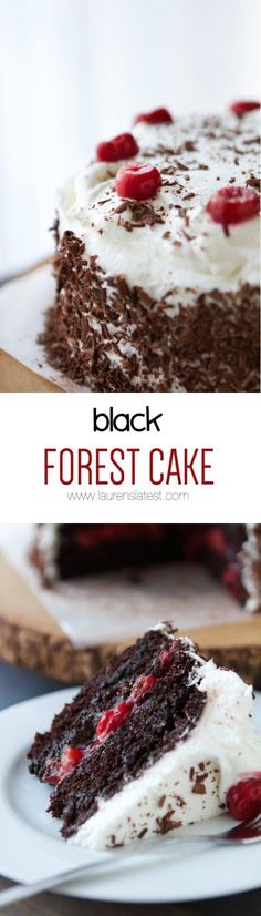 Black Forrest Cake from Lauren's Latest. This delicious dessert is always a crowd pleaser. #laurenslatest #cake #blackforrestcake  #dessertrecipes