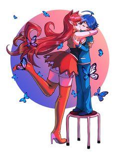Otaku Anime, Manga Anime, Anime Art, Cute Anime Character, Character Art, Character Design, Demon Art, Anime Demon, Anime Couples Manga