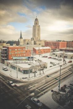 view of the State Capitol from Cornhusker Hotel on New Years Morning 2010  #nebraska hotels
