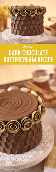 Dark Chocolate Frosting Recipe - Learn how to make dark chocolate frosting from scratch! This is an easy recipe to follow and is perfect to use for decorating cakes, cupcakes and other sweet treats. This recipe makes about 3 cups.