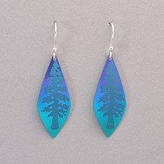 Holly Yashi Giving Tree Earrings - Turquoise / Purple