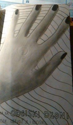 #zniszcztendziennik #wreckthisjournal #handprint