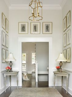 101 More Favorite Benjamin Moore Paint Colors Tons of options. This room, Classic Gray Design Entrée, Flur Design, House Design, Luxury Interior Design, Interior Paint, Interior Decorating, Decorating Ideas, Classic Interior, Contemporary Interior