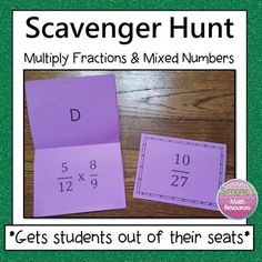 This activity gets students out of their seats. Students get to work at their own pace and think it's a game. They are highly motivated to complete a question since they can self check and get immediate feedback.Students will complete a problem and then look for the answer on top of a different card. Simone's Math Resources.