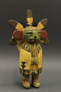 Silent Warrior (Nakiachop) kachina doll. She appears in the water serpent ceremony.