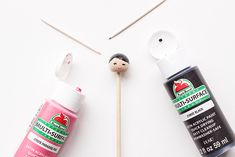 Make these adorable kiddie cocktail stir sticks inspired by Kokeshi dolls for your next party! Diy Kokeshi Dolls, Stir Sticks, Biscuit, Charlotte, How To Make, Handmade, Crafts, Hand Made, Manualidades