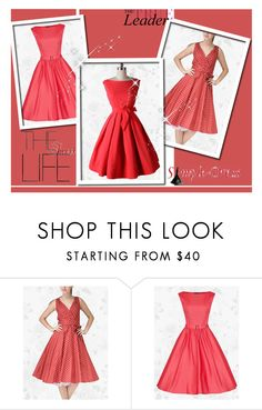 """SimpleDress 11"" by red-rose-girl ❤ liked on Polyvore featuring vintage"
