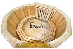 Completely made of wood hot tub with full equipment for sale Ireland. Spruce, larch or oak.