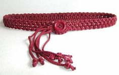 Macramé belt (to try with a different button)