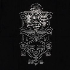 Evangelion Seele shirt with the kabbalah tree of life