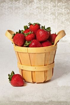 Basket of Fresh Red Strawberries