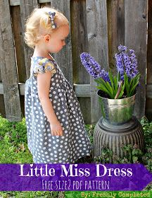 Freshly Completed: Little Miss Dress-- Free Size 2 PDF Pattern