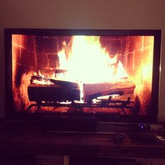 A CUP OF JO: Party tip: Roaring fire on a TV