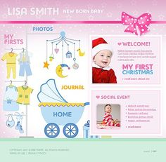 Baby Infant Website Templates by Delta