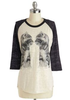 Who You Lookin' Cat? Top, #ModCloth