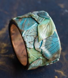Bracelet Bangle by ANNA ANPILOGOVA | Polymer Clay Planet - Minsk (Belarus) - Simply love the texture she achieves!