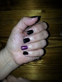 Shellac CND Black Pool + Purple