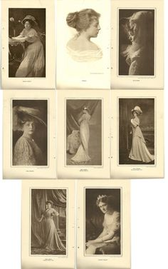 4 pages of Beautiful Broadway Actress Ladies. Sold by SarahsAtticStuff, $6.00