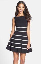 ERIN erin fetherston 'Ella' Stripe Fit & Flare Ponte Dress