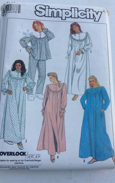 A personal favorite from my Etsy shop https://www.etsy.com/ca/listing/471313151/simplicity-pajamas-nightgown-and-robe