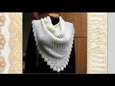 Вяжем красивую ажурную шаль на спицах - YouTube