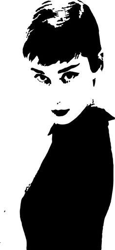 Audrey Hepburn wall decal.