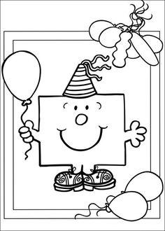 1000 Images About Kleurplaten Verjaardag On Pinterest