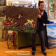 "Thank you to the inspiring colour @matildaswanson !!  ""Positive Vibes"" Art by Andrea Currie Oil paint pen on wood canvas 30""x40"" www.matildaswansongallery.com  #acurrie #creatinglifeart #pomonalife #pointillism #paint #drawing #contemporaryart #treeart #treelove #treeartist #art #artlife #georgianbay #georgianbayart #madeincanada #matildaswanson #artgallery"