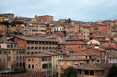 Siena, Italy architecture   ... , terracotta rooftops, and medieval architecture. That's amore