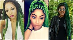 Black Women Colourful Box Braids Hairstyles 2017   Hairstyles 2016, Hair Colors and Haircuts