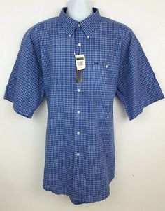 319e9982f NEW Colours Alexander Julian Blue Plaid Short Sleeve Button Front Mens Shirt  XXL #AlexanderJulian #ButtonFront. The Trading Depot