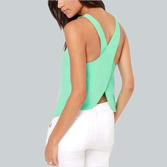 Available Now on our store:  Blouses Strapless... Check it out here ! http://mamirsexpress.com/products/blouses-strapless-candy-color-casual-ladies-shirts-sexy-backless-strap-chiffon-blouse-crop-tops-ladies-vest?utm_campaign=social_autopilot&utm_source=pin&utm_medium=pin