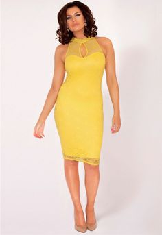 Lipstick Boutique Lilly Dress in Yellow