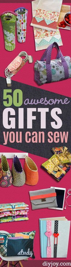 DIY Sewing Gift Ideas for Adults and Kids Teens Women Men and Baby - Cute and Easy DIY Sewing Projects Make Awesome Presents for Mom Dad Husband Boyfriend Children Sewing Hacks, Sewing Tutorials, Sewing Crafts, Sewing Tips, Sewing Ideas, Free Sewing, Sewing Men, Sewing Basics, Hand Sewing
