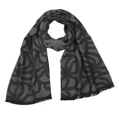 Made from 100% wool, this scarf is ultra-cozy and super chic. Marimekko Joonas Grey/Black Scarf - $129