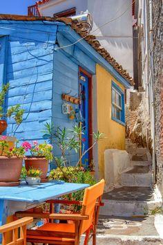 Breakfast at Samos, Greece.