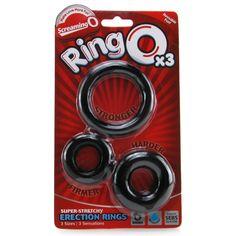 Black Screaming O RingO Silicone Penis Erection Enhancer Delay Cock Ring
