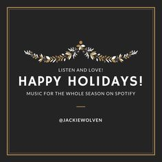 I am totally in love with Spotify and am thrilled to share some of my favorite holiday tunes with playlists for the holidays with you. Listen and love!