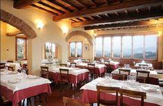 Photo of Trattoria Omero, near Florence, Italy. Florentine steak and meringue dessert....