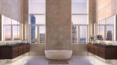 Nyc Apartment Luxury, Warehouse Apartment, Penthouse Apartment, Luxury Apartments, Luxury Homes, Apartment Goals, Manhattan Penthouse, Manhattan Apartment, Apartamento New York
