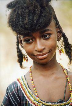 Africa    Wodabé Fulani girl    © Johan Gerrits.