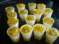 Verrine Fruit, Mousse, Buffet, Biscuits, Mango, Food And Drink, Pudding, Stuffed Peppers, Cooking
