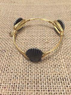 Bourbon and Boweties Silver Sea Shell Standard Wrist