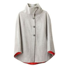 Lulu Cape Grey Cloud // Leslie Tessler -- love the touch of red on the underside