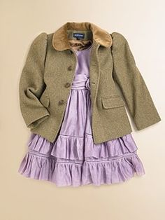 Ralph Lauren - Toddler's & Little Girl's Tweed Jacket