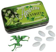 Absinthe Candy Tin 80 Anise Victorian Green Fairy Mint Candies Accoutrements | eBay