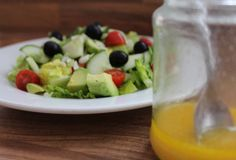 Avocado is a super food that contains many nutrients for body functions. Just a few to mention are potassium to control blood sugar levels and vitamins A and E to reduce cholesterol absorption. So, not only are you getting a delicious healthy salad here, but also a vital health boost too!