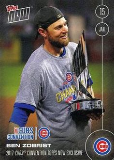 2017 Topps Now #NNO Ben Zobrist Front