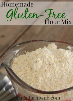 This is by far the best homemade Gluten-Free Flour Mix Recipe I've ever used! We do everything from pancakes to bread with it, and it's SO MUCH cheaper than buying pre-mixed flour!